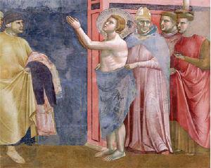 Francesco si spoglia Giotto