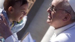 papa Francesco Bimbo
