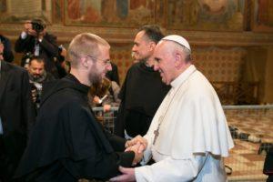 Fra Nico col Papa