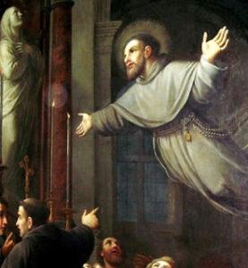 San Giuseppe da Copertino in volo