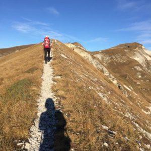 Cammino in cresta