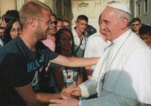 Fra Nico con Papa Francesco