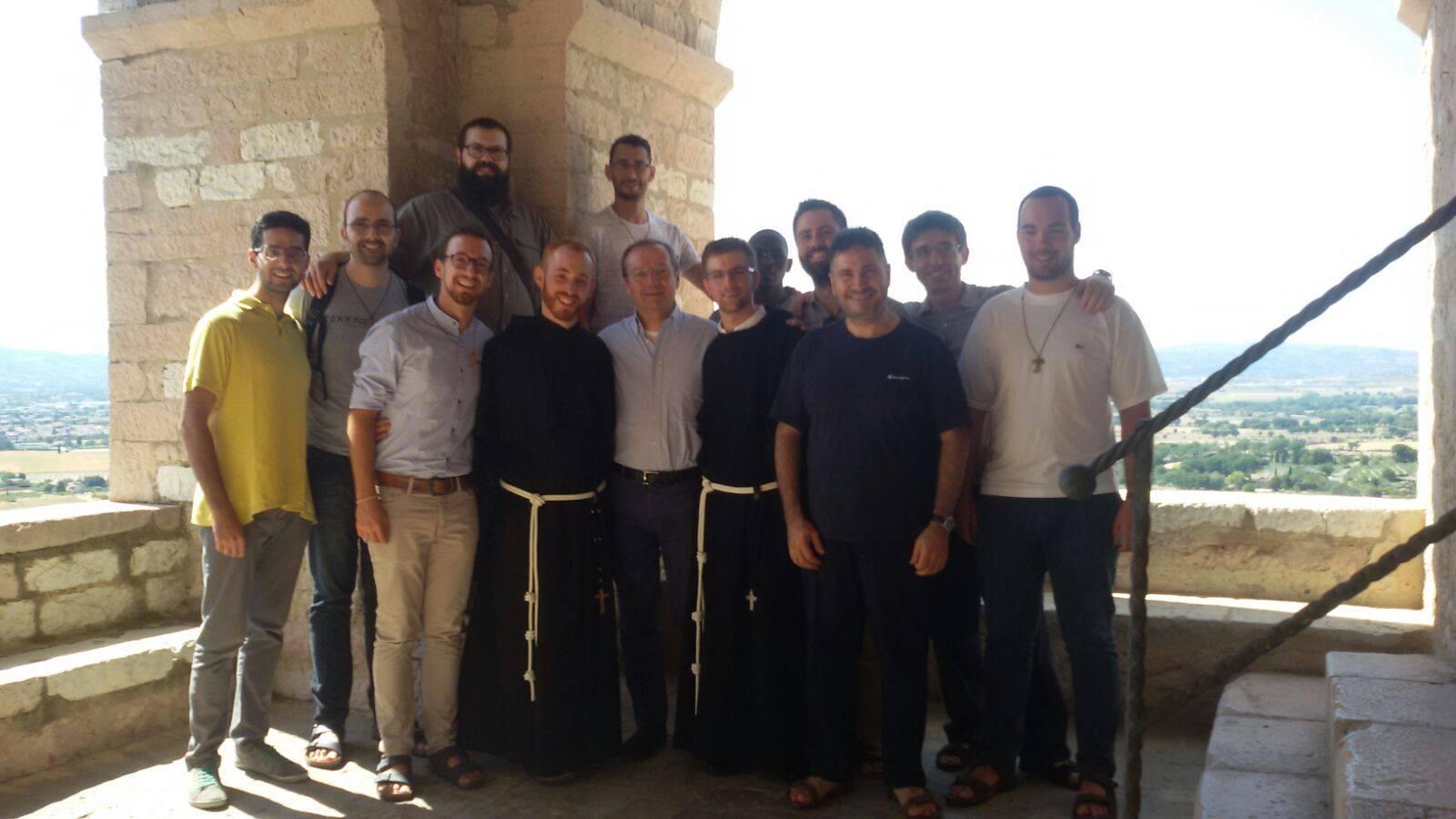 postulanti e neoprofessi ad Assisi