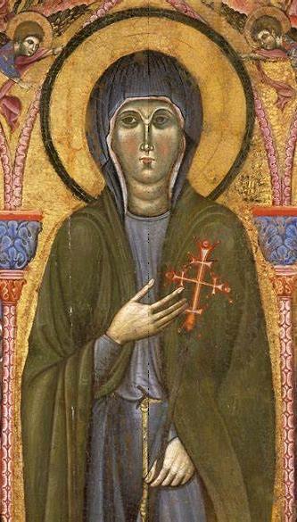 Tavola di santa Chiara - riquadro centrale